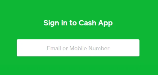 Cash app sign up