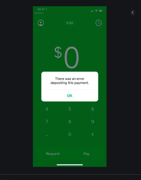 Payment error